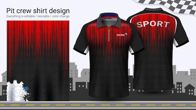 Polo t-shirt avec fermeture éclair