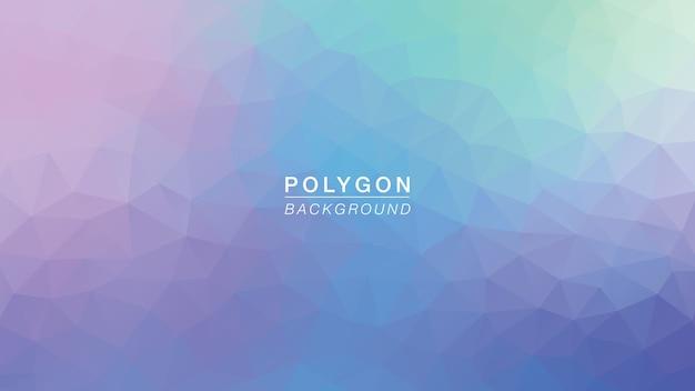 Polygon purple green glow