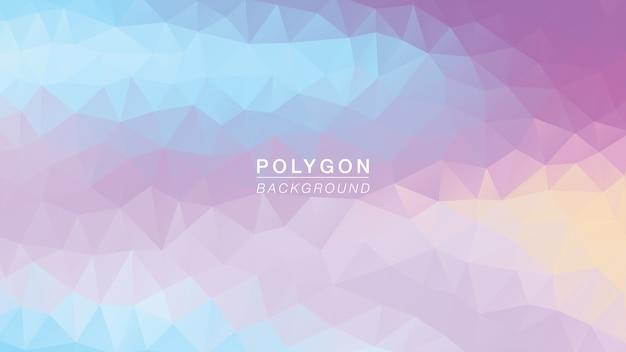 Polygon unicorn soft rainbow