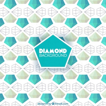 Polygonal diamant fond