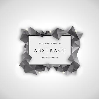Polygonal frame abstract vector signe, symbole ou modèle de logo.