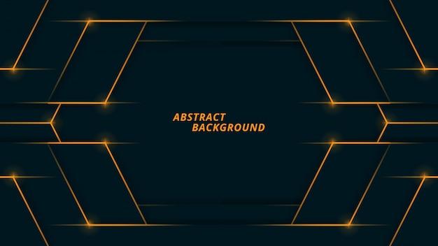 Polygonale abstrait avec lumière marine et orange foncé