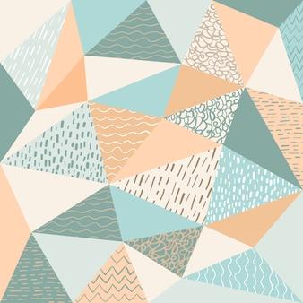 Polygonale abstraite avec fond de motif