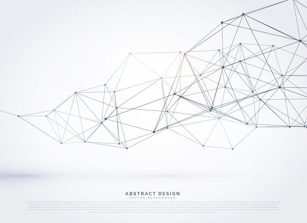 Polygonale conception maillage de fond wireframe