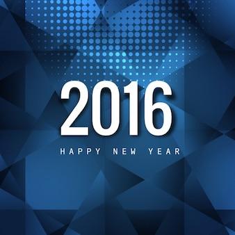 Polygonale happy new year card