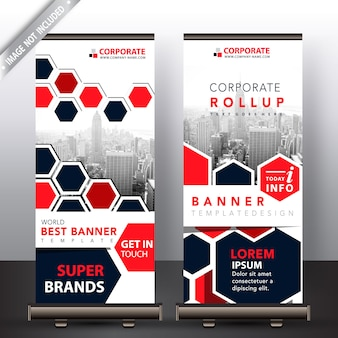 Polygonale roll up design