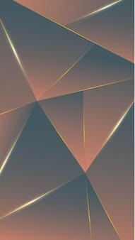 Polygone, abstrait marron, gris dégradé fond d'écran vector illustration
