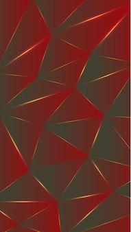 Polygone, abstrait rouge, ébène fond d'écran dégradé illustration vectorielle.