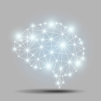 Polygone cérébral brillant