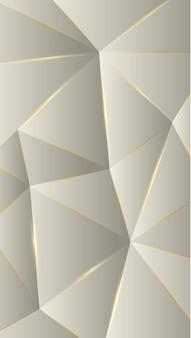 Polygone, crème abstraite, illustration vectorielle de fond d'écran dégradé gris bronze.