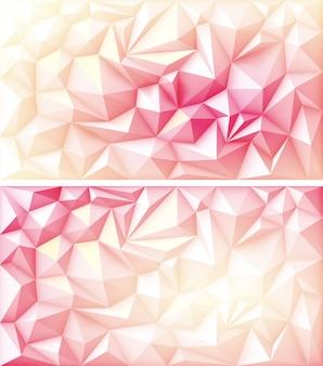 Polygone polygonal triangle géométrique multicolore rouge rose jaune rubis fond
