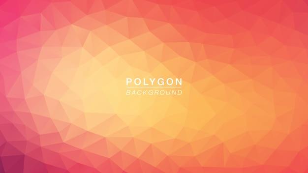 Polygone rose chaud