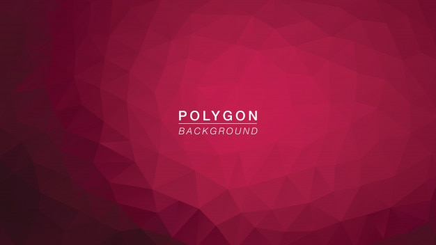 Polygone rose foncé