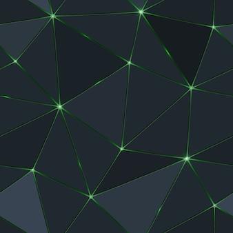 Polygone sombre sans soudure avec la lumière verte.