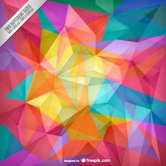 Polygones de couleur fond