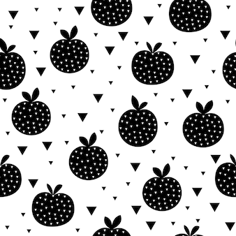 Pomme abstraite sans soudure de fond. artisanat enfantin fait à la main pour carte de conception, menu de café, papier peint, album cadeau d'été, scrapbooking, papier d'emballage de vacances, couche pour bébé, impression de sac, t-shirt, etc.