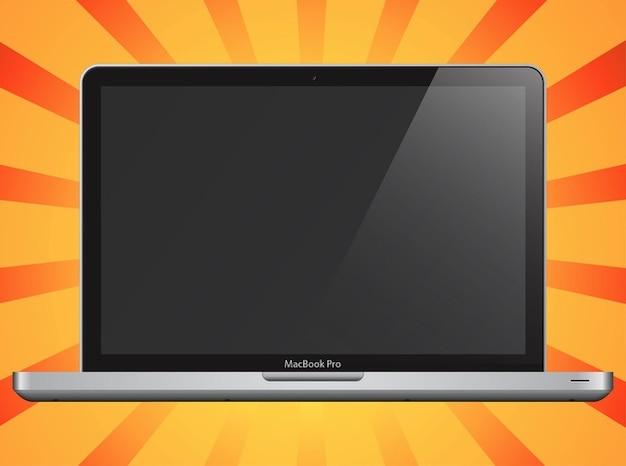 Pomme aluminium ordinateur portable macbook vecteur