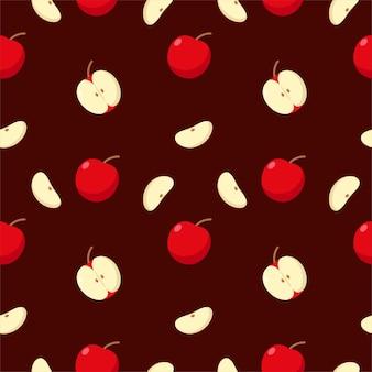 Pomme de fruits sans couture colorée