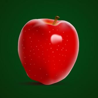 Pomme rouge fraîche