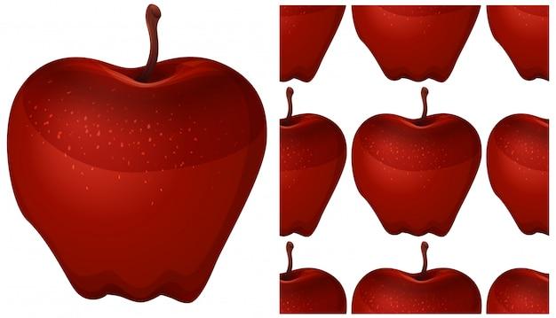 Pomme transparente isolée