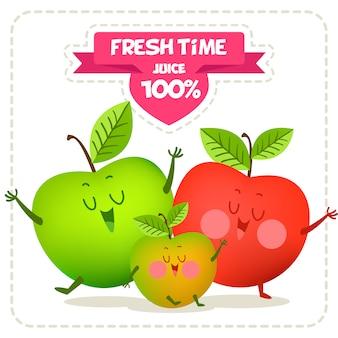 Pommes conception de fond