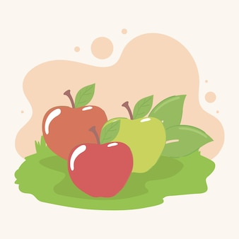 Pommes fruits frais