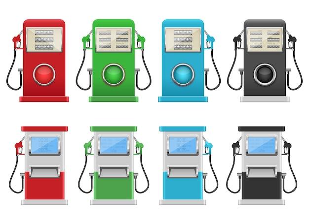 Pompe à essence, isolée sur fond