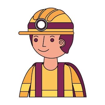 Pompier avatar personnage icône vector illustration design