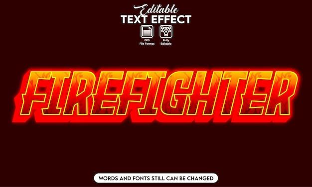 Pompier à effet de texte modifiable