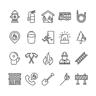 Pompier icon set