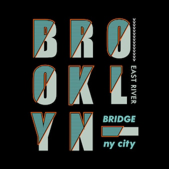 Pont de brooklyn typographique
