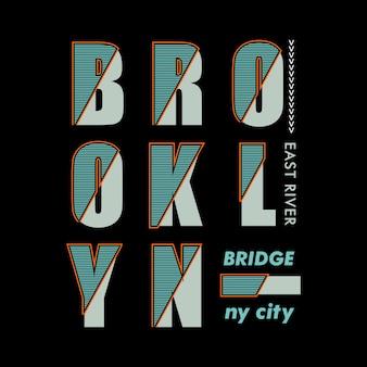 Pont de brooklyn typographique