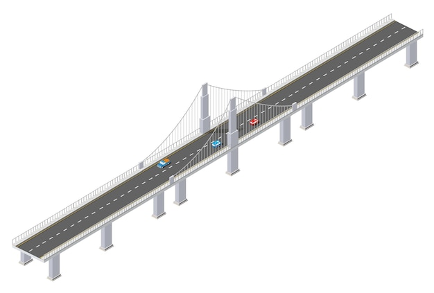 Le pont des infrastructures urbaines est isométrique