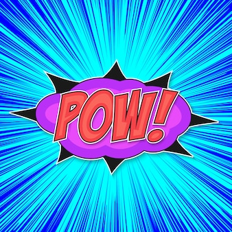 Pop art bomb pow