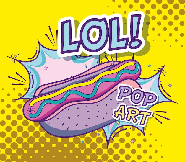 Pop art délicieux dessins animés de restauration rapide