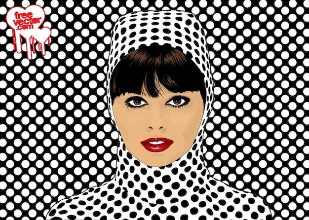 Pop art fille - illustration de l'art