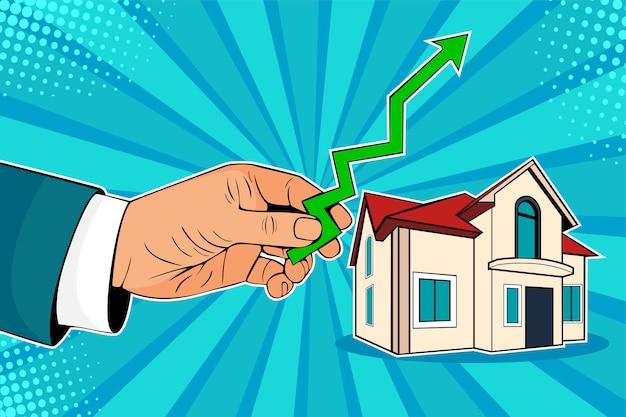 Pop art hausse des prix de l'immobilier