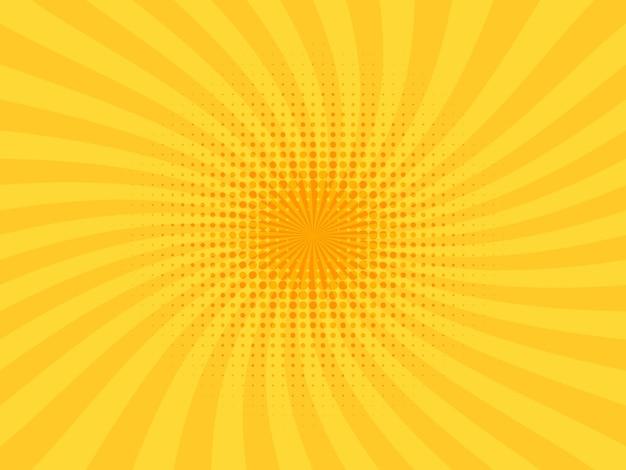 Pop art rétro comique jaune.