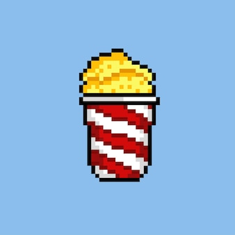Pop-corn avec style pixel art
