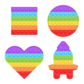 Pop it nouveau jouet coloré en silicone pour enfants populaire.