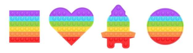 Pop it nouveau jouet populaire pour enfants jouet sensoriel antistress coloré fidget push pop it simple fossette