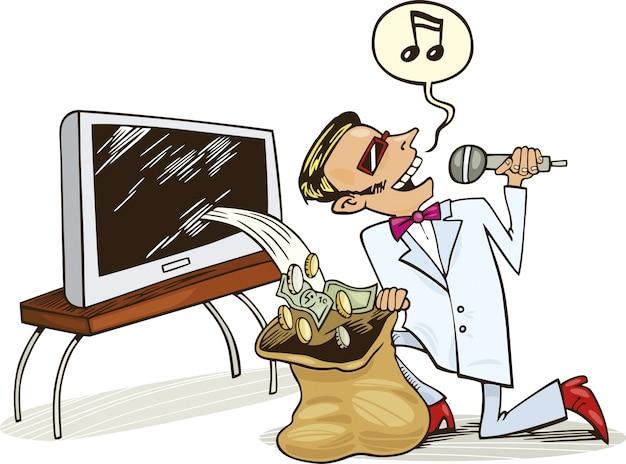 Pop star et son profit des droits d'auteur