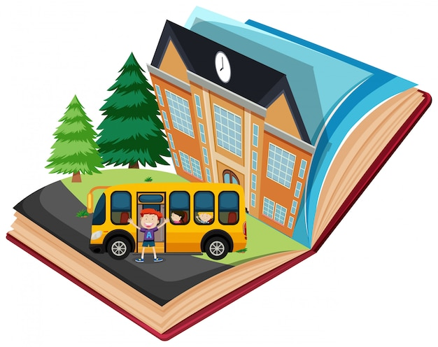 Pop-up school book