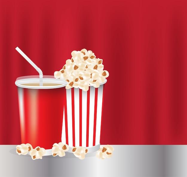 Un popcorn et une boisson