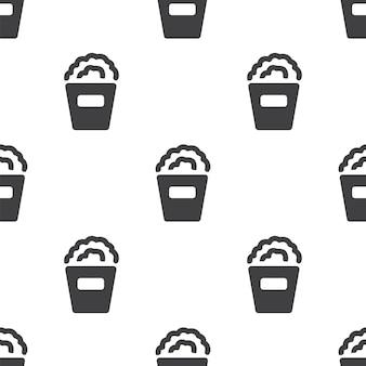 Popcorn, modèle sans couture de vecteur, modifiable peut être utilisé pour les arrière-plans de pages web, les remplissages de motifs