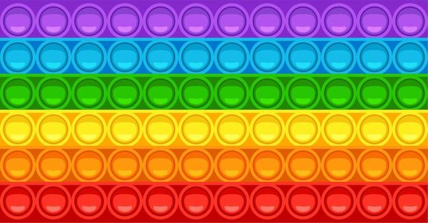 Popit fidget toy texture jeu anti-stress tendance jouet à main avec bulles à pousser aux couleurs de l'arc-en-ciel