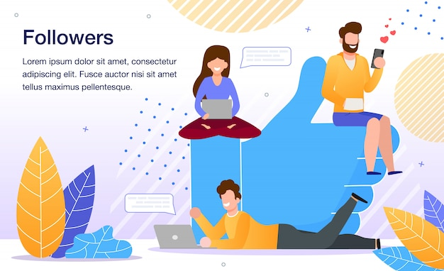 Popularité dans social network flat