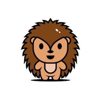 Porc-épic de personnages animaux mignons