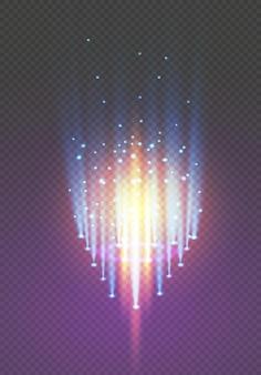 Portail fantastique magique. téléportation futuriste. effet lumineux.