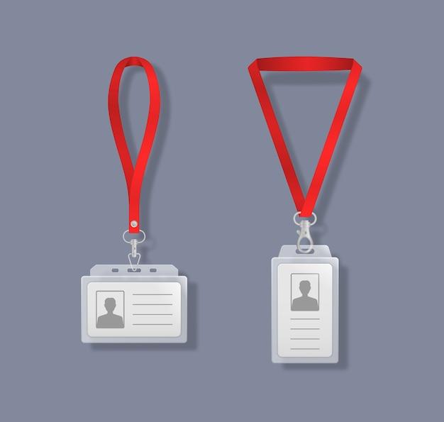 Porte-cartes d'identité professionnels avec lacets